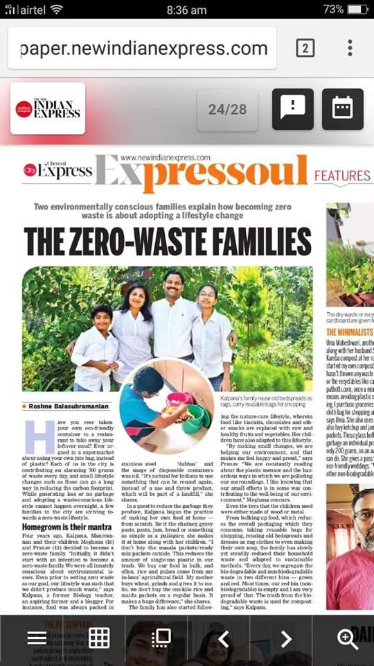 My journey towards an Eco-friendly lifestyle - Kalpavriksha