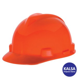 MSA Staz On V-Gard Caps Hi Viz Orange Head Protection