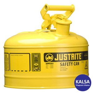 Justrite 7125200 Type I Yellow Larger Capacity Trigger Safety Container