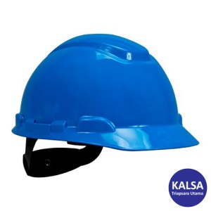 3M H-703R Blue 4 Point Ratchet Suspension Hard Hat Head Protection