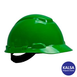 3M H-704P Green 4-Point Pinlock Suspension Hard Hat Head Protection