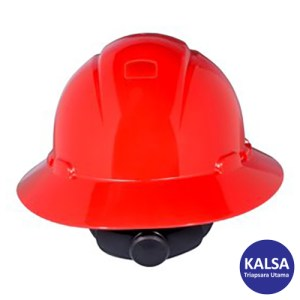 3M H-805R Red Full Brim Hard Hat Ratchet Suspension Head Protection