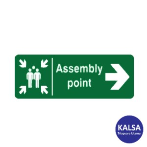 Safety Sign Assembly Point Right Direction Reflective Sticker Only