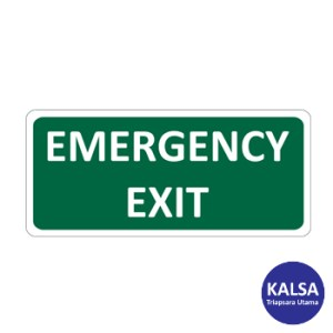 Safety Sign Emergency Exit Reflective Sticker Only