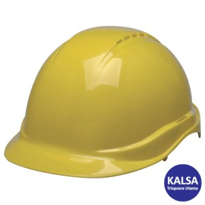 Elvex SC-50-6R Yellow Tectra Safety Cap Non-Vented Head Protection