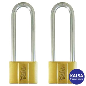 Yale V140.50LS90KA2V-Series Solid Brass Long Shackle 50 mm Security Padlock