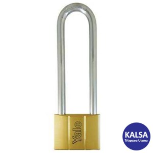 Yale V140.60LS120 V-Series Solid Brass Long Shackle 60 mm Security Padlock