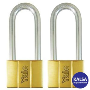 Yale V140.60LS80KA2 V-Series Solid Brass Long Shackle 60 mm Security Padlock