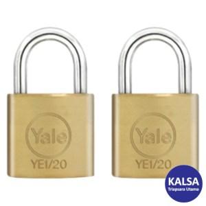 Yale YE1/20/111/2 Essential Series Indoor Brass Shackle 20 mm Security Padlock