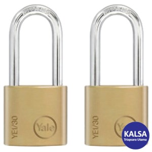 Yale YE1/30/115/2 Essential Series Indoor Brass Long Shackle 30 mm Security Padlock
