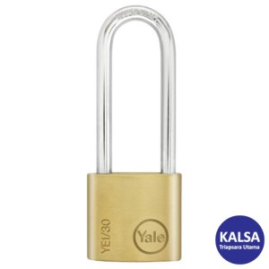 Yale YE1/30/147/1 Essential Series Indoor Brass Long Shackle 30 mm Security Padlock