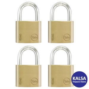 Yale YE1/40/122/4 Essential Series Indoor Brass Shackle 40 mm Security Padlock