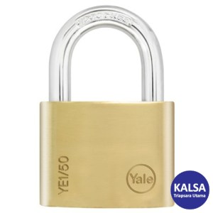 Yale YE1/50/152/1 Essential Series Indoor Brass Long Shackle 50 mm Security Padlock