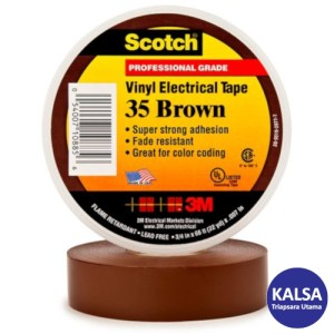 3M Scotch 35-BROWN-3/4 Vinyl Color Coding Electrical Tape