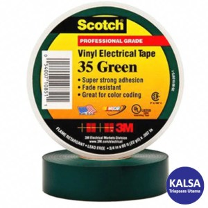 3M Scotch 35-GREEN-1/2 Vinyl Color Coding Electrical Tape