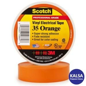 3M Scotch 35-ORANGE-3/4 Vinyl Color Coding Electrical Tape
