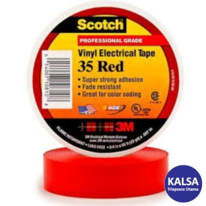 3M Scotch 35-RED-3/4 Vinyl Color Coding Electrical Tape