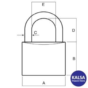 Lockwood 110/40/123/2DP Solid Brass 40 mm Security Padlock