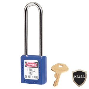 Master Lock 410LTBLU Blue Keyed Different Safety Padlock Zenex Thermoplastic