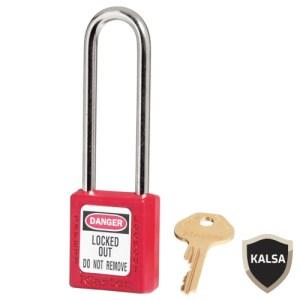 Master Lock 410LTRED Keyed Different Safety Padlock Zenex Thermoplastic
