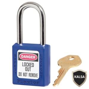 Master Lock 410MKBLU Blue Master Keyed Safety Padlock Zenex Thermoplastic
