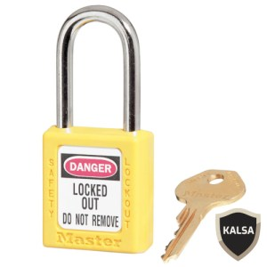 Master Lock 410YLW Yellow Keyed Different Safety Padlock Zenex Thermoplastic