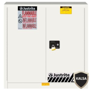 Justrite 893305 White Industrial Safety Cabinet