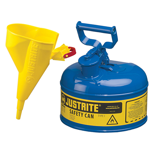 Distributor Justrite 7110310 Type I Blue Larger Capacity Trigger Safety Container