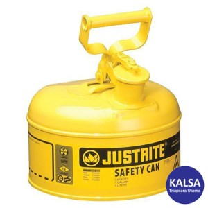 Justrite 7110200 Type I Yellow Larger Capacity Trigger Safety Container
