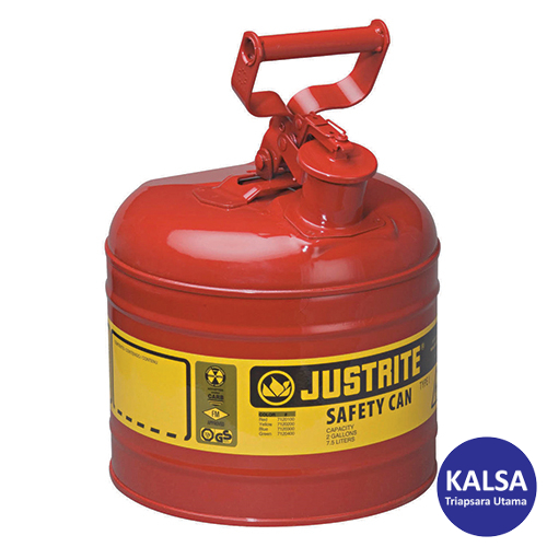 Galvanized Steel Type I Yellow Safety Can Justrite 7120200 2 Gallon