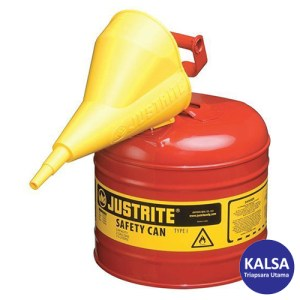 Justrite 7120110 Type I Red Larger Capacity Trigger Safety Container