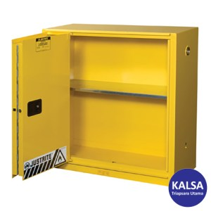 Justrite 893080 Yellow Industrial Safety Cabinet