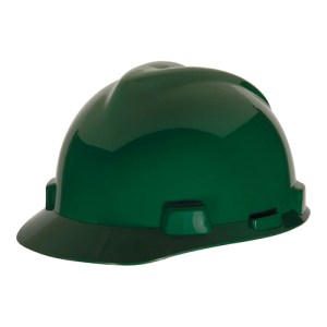 MSA Fastrack V-Gard Caps Green Head Protection