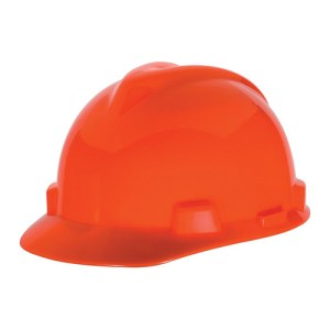 MSA Fastrack V-Gard Caps Hi Viz Orange Head Protection