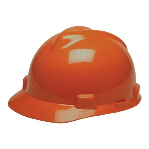 MSA Fastrack V-Gard Caps Orange Head Protection