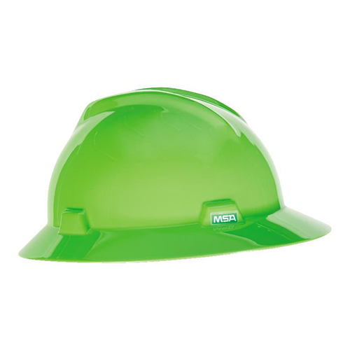 MSA Fastrack V-Gard Hats Bright Lime Green
