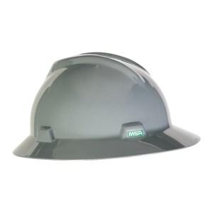 MSA Fastrack V-Gard Hats Gray Head Protection
