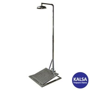 CIG 21CIG15028000 Stainless Steel Pedestal Mounted with Mini Panel Eye Wash