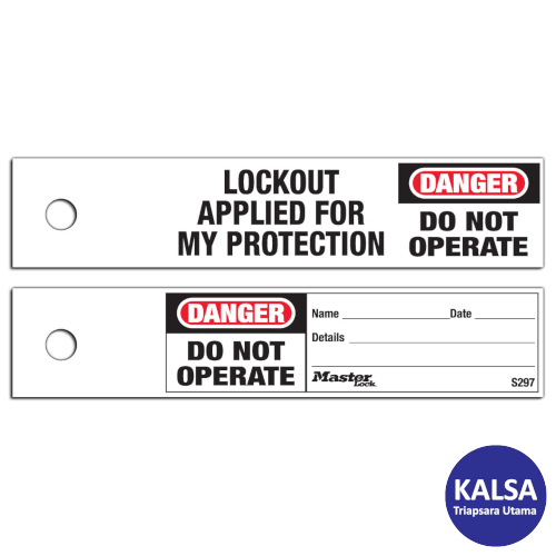Distributor Master Lock S297 Maintenance Lockout Safety Tags, Jual Master Lock S297 Maintenance Lockout Safety Tags, Distributor LOTO S297 Maintenance Lockout Safety Tags, Jual LOTO S297 Maintenance Lockout Safety Tags