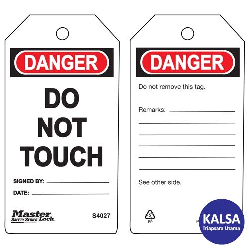 distributor master lock S4027, distributor safety tag S4027, jual Master Lock S4027, jual safety tag S4027, distributor safety tag S4027