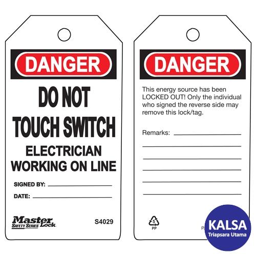 distributor master lock S4029, distributor safety tag master lock S4029, Jual master lock S4029, jual safety tag master lock S4029, jual loto S4029, distributor loto S4029