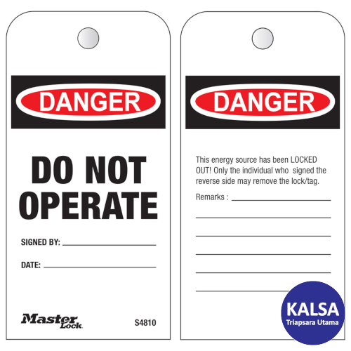 Distributor Master Lock S4810 Do Not Operate Roll Safety Tags, Jual Master Lock S4810 Do Not Operate Roll Safety Tags, Distributor LOTO S4810 Do Not Operate Roll Safety Tags, Jual LOTO S4810 Do Not Operate Roll Safety Tags