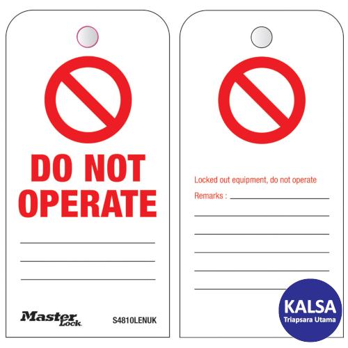 Distributor Master Lock S4810LENUK Do Not Operate Roll Safety Tags, Jual Master Lock S4810LENUK Do Not Operate Roll Safety Tags, Distributor LOTO S4810LENUK Do Not Operate Roll Safety Tags, Jual LOTO S4810LENUK Do Not Operate Roll Safety Tags