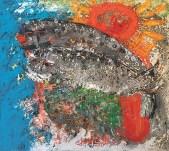 """Reidar Särestöniemi: """"Rakastuneet hylkeet"""", 1972. Kuvannut Sauli Koski."""