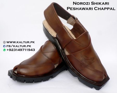 Quetta Norozi Chappal Pure Leather Double Shade Color