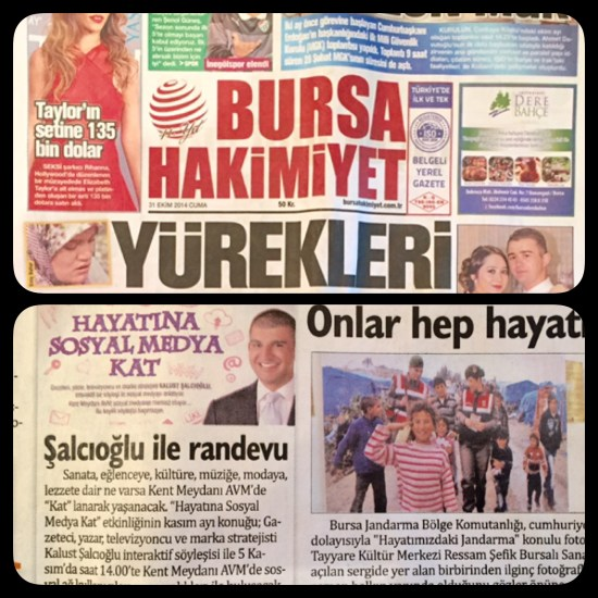 31 Ekim 2014 - BURSA HAKİMİYET Gazetesi