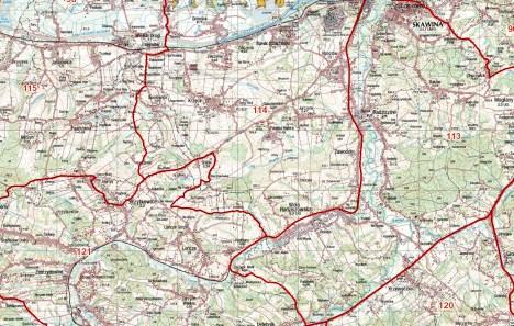 Mapa okręgów łowieckich - https://miip.geomalopolska.pl/