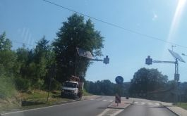 Oświetlone przejście dla pieszych w Barwałdzie Górnym
