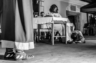Misterium Męki Pańskiej w Kalwarii Zebrzydowskiej 2019 - Wielka Środa - Uczta u Szymona i Zdrada Judasza - 17 kwietnia 2019 r. fot. Andrzej Famielec, Kalwaria 24 IMGP5935