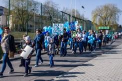 Niebieska Kalwaria - obchody Światowego Dnia Świadomości Autyzmu w Kalwarii - 2 kwietnia 2019 r. Kalwaria Zebrzydowska - fot. Andrzej Famielec IMGP5154